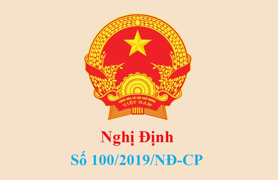 Nghị định 100/2019/NĐ-CP